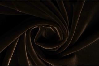 Купить ткань Бархат (темно-коричневый) оптом
