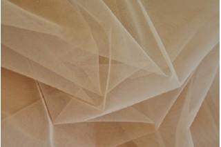 Купить ткань Фатин (бежевый) мягкий оптом