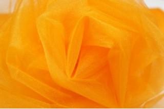 Купить ткань Фатин (оранжевый) мягкий оптом