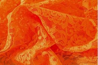 Купить ткань Гипюр (оранжевый) оптом