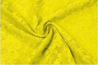 Купить ткань Гипюр (желтый) оптом