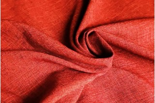 Купить ткань Лен габардин (красный) оптом