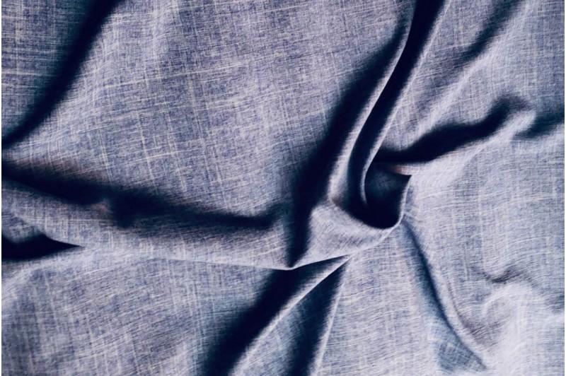 Купить ткань Лен габардин (синий) оптом
