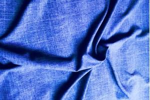 Лен габардин (темно-голубой)