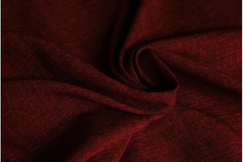Купить ткань Лен габардин (бордо) оптом