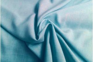 Купить ткань Лен габардин (голубой) оптом