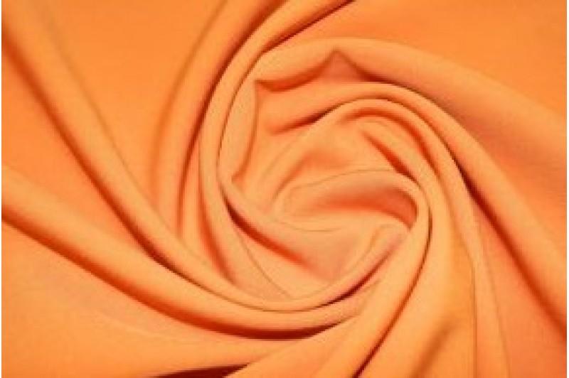 Купить ткань Креп-костюмка (оранжевый) оптом