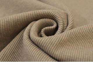 Купить ткань Рибана (бежевая) оптом и в розницу