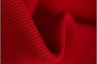 Купить ткань Рибана (красный) оптом и в розницу