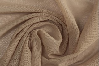Купить ткань Сетка стрейч (бежевая) оптом