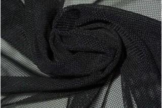 Купить ткань Сетка стрейч (черный) оптом