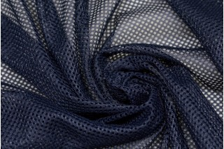 Купить ткань Сетка стрейч (темно-синий) оптом