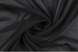 Купить ткань Шифон (черный) оптом