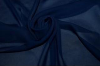 Купить ткань Шифон (темно-синий) оптом