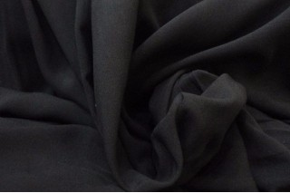 Купить ткань Штапель (черный) оптом и в розницу