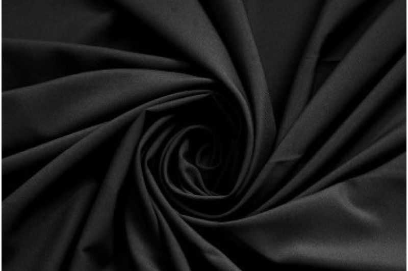 Купить ткань Софт стрейч (черный) оптом
