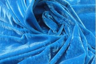 Купить ткань Велюр (голубой) оптом