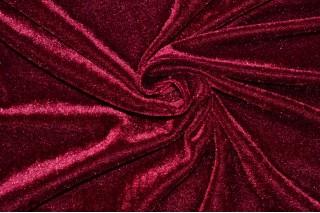 Купить ткань Велюр (бордовый) оптом