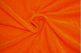 Купить ткань Велюр (кислотно-оранжевый) оптом