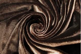 Купить ткань Велюр (коричневый) оптом